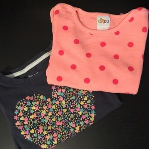 2 CUTE LONGSLEEVE TOPS.